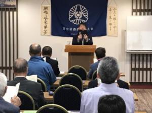 20190612朝の挨拶 石川幹事