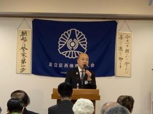 20190904_03講話 永田義博新宿区倫理法人会相談役